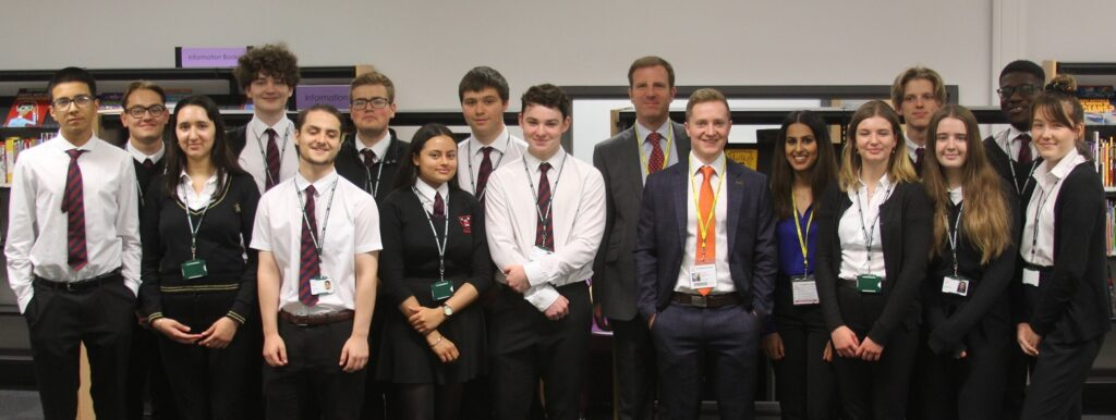 Sixth formers from Bishop Vesey's Grammar School and Plantsbrook School got an insight into life in the legal profession from former students who now work at law form Bell Lax.