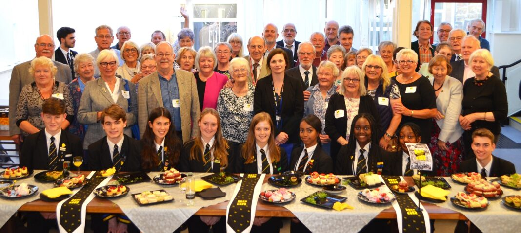 Pupils and teachers from the Class of 1959 join present-day Fairfax students and staff for an afternoon tea.