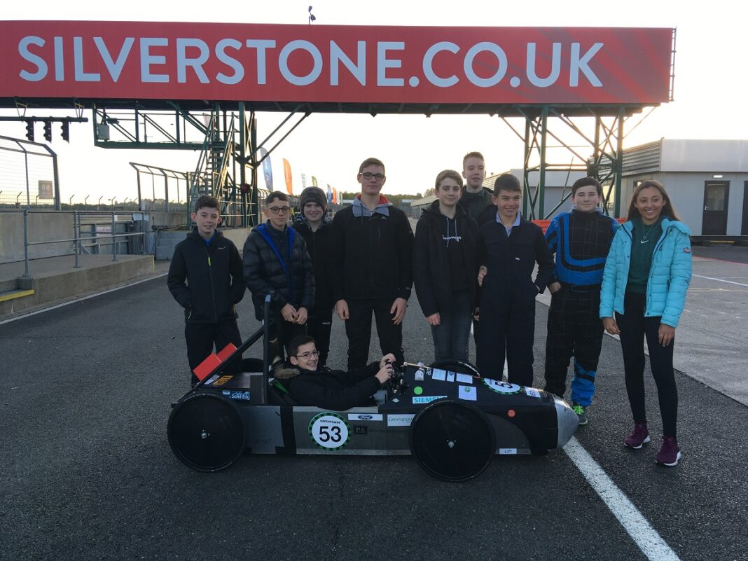 The Arthur Terry team on the track at Silverstone.