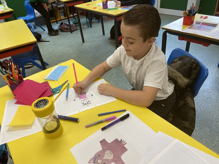 Talented Hill West Primary School pupils are getting arty.