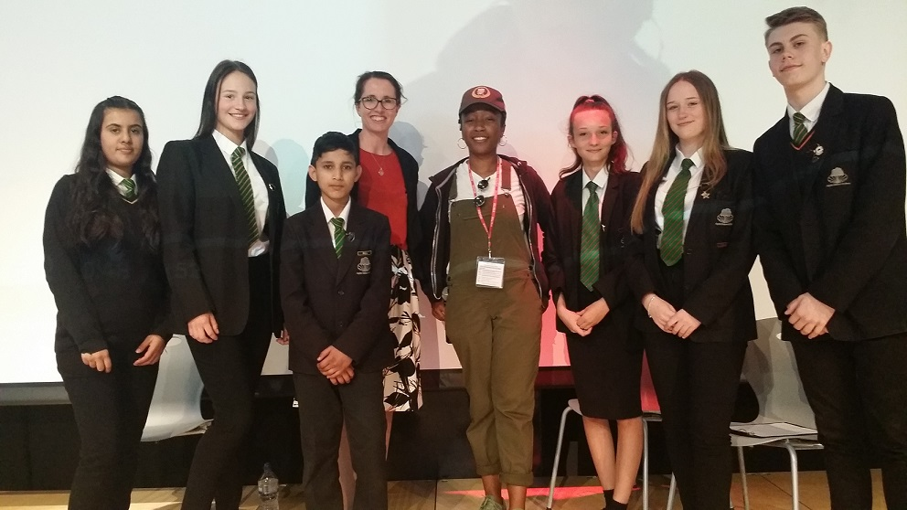 Stars of the present and future – Lady Sanity encourages Stockland Green Students to 'Go the Distance'
