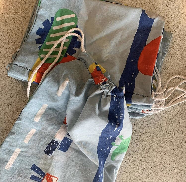 Scrubs bags sewn by students at Stockland Green School.
