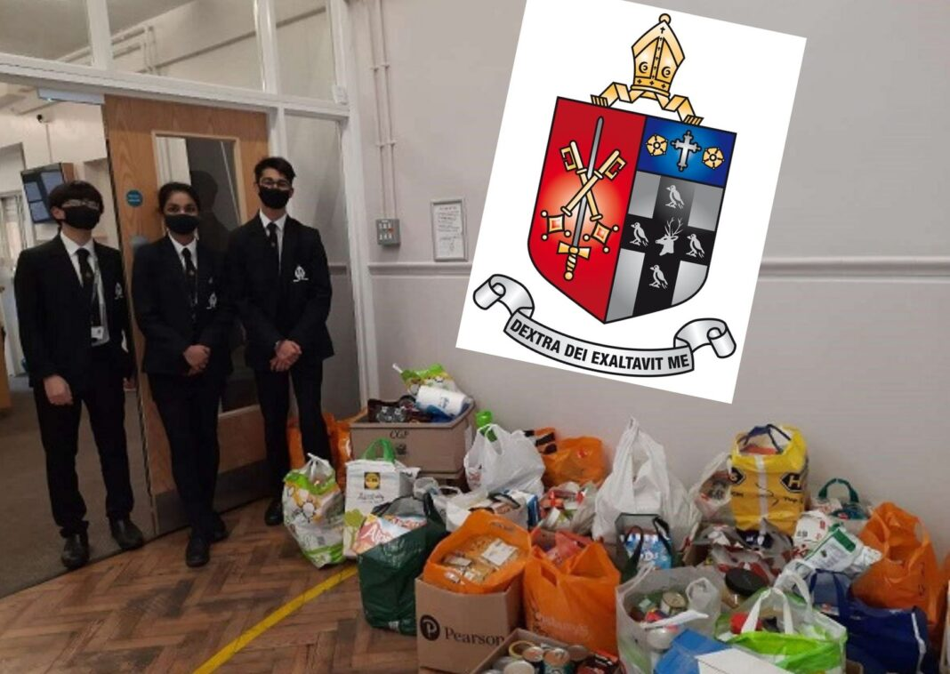 Krishan Patel, Laura Jaison and Yuan Sagala with some of the items collected.