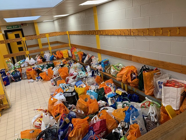 Just some of the donations at Arthur Terry.