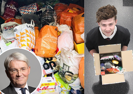 MP Andrew Mitchell has praised the efforts of Sutton schools who have donated thousands of times to good causes.
