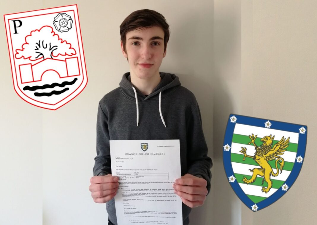 Plantsbrook student Dan Walton has been offered a place at Downing College, Cambridge.