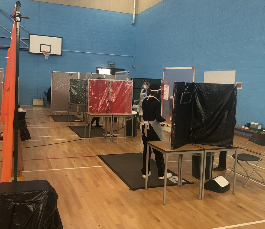 The centre has nine bays ready to test the school's 1000-plus pupils when they return.