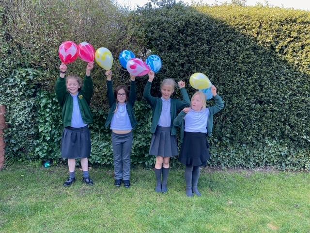 Year 3 pupils. Chloe Adamthwaite, Ava Codd, Lexie Cook and Rose Mason.