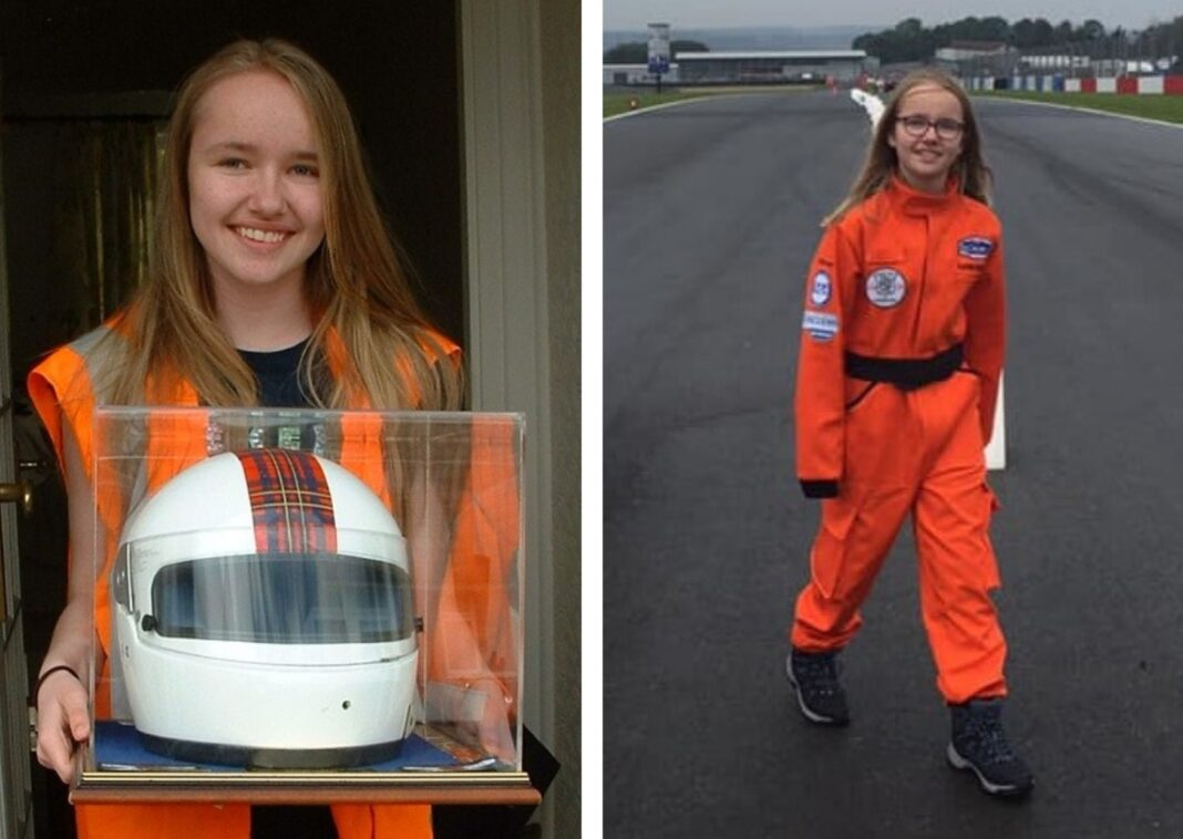 Charlotte Edwards, 11, is a keen member of the Motorsport Marshals Club's cadets