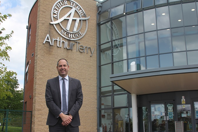 Neil Warner first taught at Arthur Terry School in 1999.
