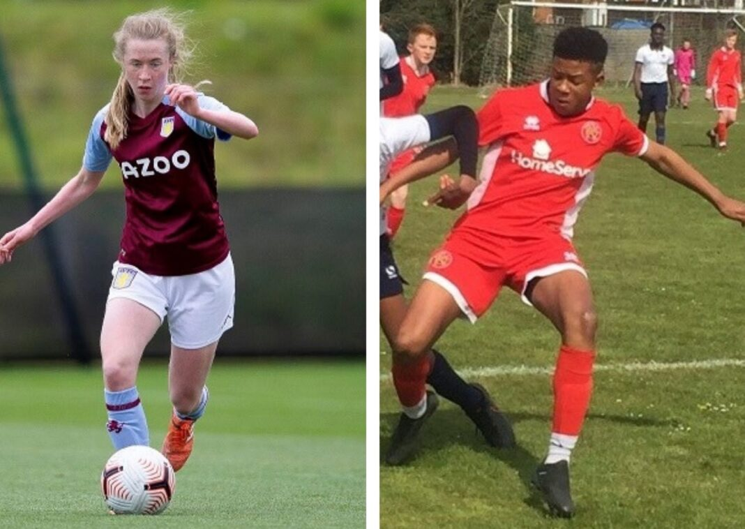 Plantsbrook students Katie Ward, 17, and Cameron Penlington, 16, have been on the books at Aston Villa and Walsall FC since before they were teenagers.