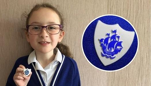 Georgina Brown has won a coveted Blue Peter Badge.