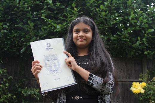 Nuha Maryam, 11, took part in two Mensa tests – and discovered she has a higher IQ than Stephen Hawking and Albert Einstein.