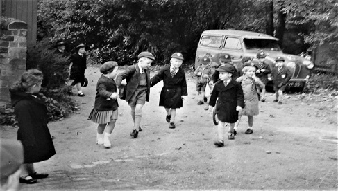 Shrubbery pupils in their traditional uniforms, in a picture taken during the 1960s.
