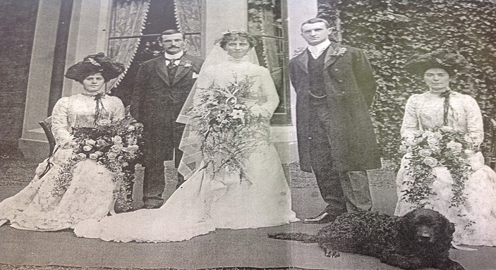 The Shrubbery's listed building was once a grand house. This archive image shows a family wedding outside the front windows.